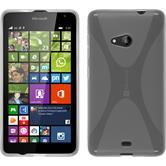 Silikon Hülle Lumia 535 X-Style clear + 2 Schutzfolien