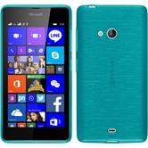 Silikon Hülle Lumia 540 Dual brushed blau