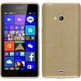 Silikonhülle für Microsoft Lumia 540 Dual brushed gold