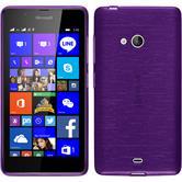 Silikon Hülle Lumia 540 Dual brushed lila