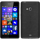 Silikon Hülle Lumia 540 Dual brushed silber