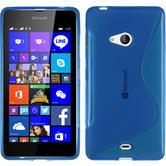 Silikon Hülle Lumia 540 Dual S-Style blau