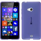 Silikon Hülle Lumia 540 Dual transparent lila + 2 Schutzfolien