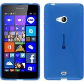 Silikon Hülle Lumia 540 Dual X-Style blau