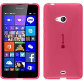 Silikon Hülle Lumia 540 Dual X-Style pink + 2 Schutzfolien