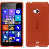 Silikon Hülle Lumia 540 Dual X-Style rot + 2 Schutzfolien