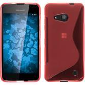 Silikonhülle für Microsoft Lumia 550 S-Style rot