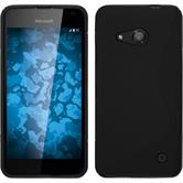 Silikon Hülle Lumia 550 S-Style schwarz + 2 Schutzfolien