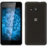 Silikon Hülle Lumia 550 Slimcase grau + 2 Schutzfolien
