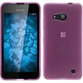 Silikon Hülle Lumia 550 transparent rosa + 2 Schutzfolien