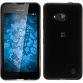 Silikon Hülle Lumia 550 transparent schwarz + 2 Schutzfolien