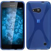 Silikon Hülle Lumia 550 X-Style blau + 2 Schutzfolien