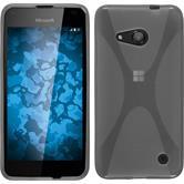 Silikon Hülle Lumia 550 X-Style clear + 2 Schutzfolien