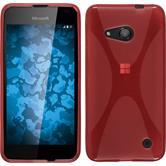 Silikon Hülle Lumia 550 X-Style rot + 2 Schutzfolien