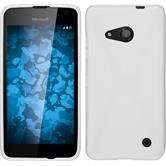 Silikon Hülle Lumia 550 X-Style weiß + 2 Schutzfolien