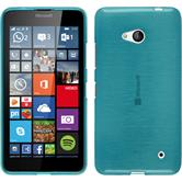 Silikon Hülle Lumia 640 brushed blau