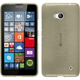 Silicone Case for Microsoft Lumia 640 brushed gold