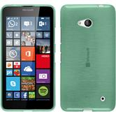 Silicone Case for Microsoft Lumia 640 brushed green