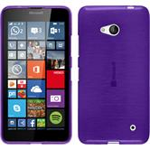 Silicone Case for Microsoft Lumia 640 brushed purple