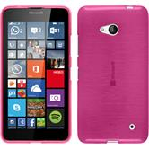 Silicone Case for Microsoft Lumia 640 brushed hot pink