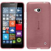 Silikon Hülle Lumia 640 brushed rosa