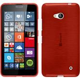Silikon Hülle Lumia 640 brushed rot