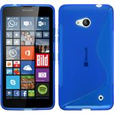 Silicone Case for Microsoft Lumia 640 S-Style blue