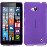 Silikon Hülle Lumia 640 S-Style lila