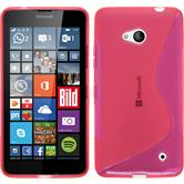 Silicone Case for Microsoft Lumia 640 S-Style hot pink