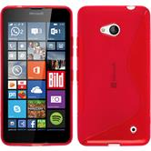 Silicone Case for Microsoft Lumia 640 S-Style red
