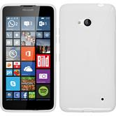 Silikonhülle für Microsoft Lumia 640 S-Style weiß