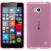 Silicone Case for Microsoft Lumia 640 transparent pink