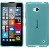 Silicone Case for Microsoft Lumia 640 transparent turquoise