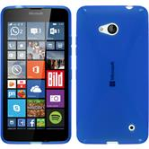 Silikon Hülle Lumia 640 X-Style blau + 2 Schutzfolien