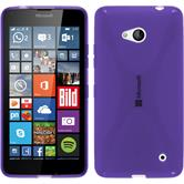 Silicone Case for Microsoft Lumia 640 X-Style purple