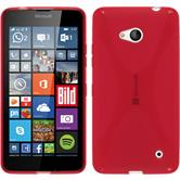 Silicone Case for Microsoft Lumia 640 X-Style red
