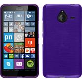Silicone Case for Microsoft Lumia 640 XL brushed purple