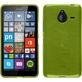 Silikon Hülle Lumia 640 XL brushed pastellgrün + 2 Schutzfolien