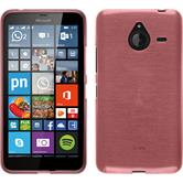 Silikon Hülle Lumia 640 XL brushed rosa
