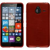 Silicone Case for Microsoft Lumia 640 XL brushed red