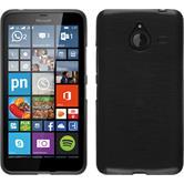 Silikon Hülle Lumia 640 XL brushed silber + 2 Schutzfolien