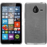 Silikon Hülle Lumia 640 XL brushed weiß + 2 Schutzfolien