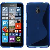 Silikon Hülle Lumia 640 XL S-Style blau + 2 Schutzfolien