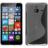 Silikon Hülle Lumia 640 XL S-Style clear + 2 Schutzfolien