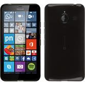Silikon Hülle Lumia 640 XL transparent schwarz + 2 Schutzfolien