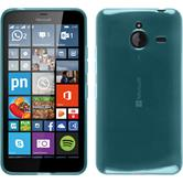 Silicone Case for Microsoft Lumia 640 XL transparent turquoise
