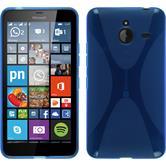 Silikonhülle für Microsoft Lumia 640 XL X-Style blau