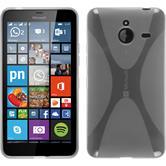 Silikon Hülle Lumia 640 XL X-Style clear + 2 Schutzfolien