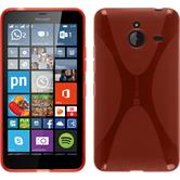 Silicone Case for Microsoft Lumia 640 XL X-Style red