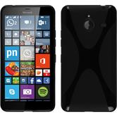 Silicone Case for Microsoft Lumia 640 XL X-Style black